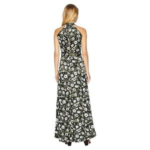 Bebe Halter Maxi Dress Mystique print